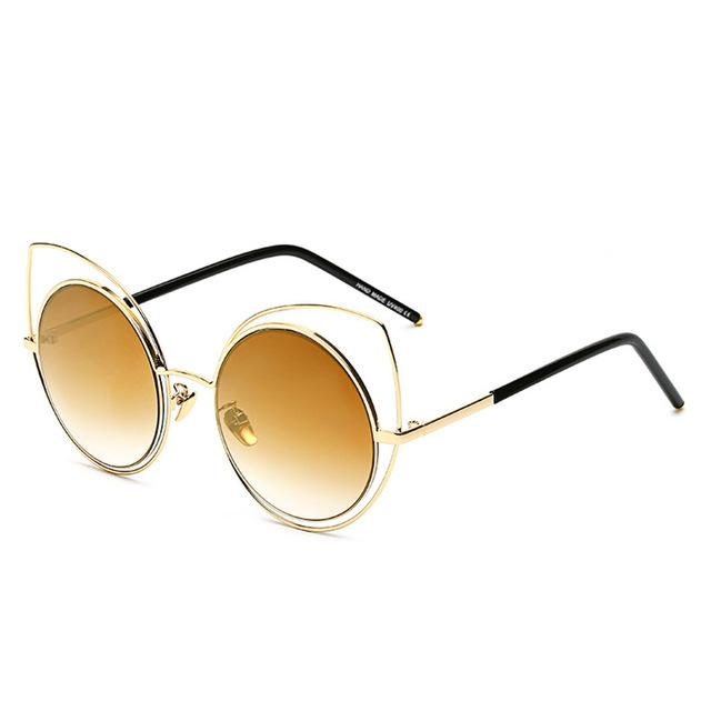 Oversized Cat-Eye Sunglasses-RS072 C03-As Picture-