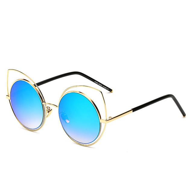 Oversized Cat-Eye Sunglasses-RS072 C04-As Picture-