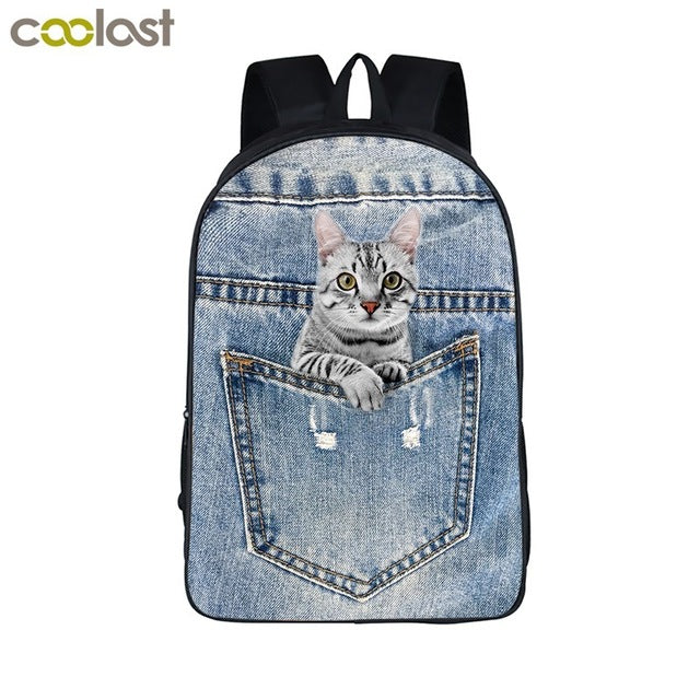 Cute Kittens & Puppies Backpack