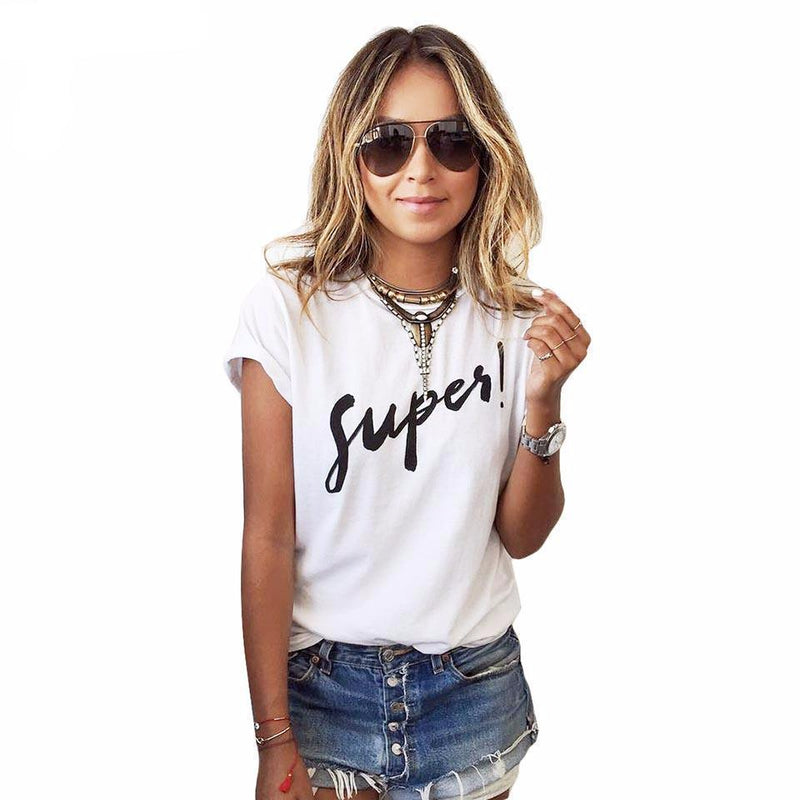 SUPER HARAJUKU T-SHIRT-White 2-S-