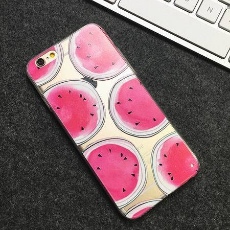 Watermelon Transparent iPhone Cases-1-For iPhone 7 Plus-