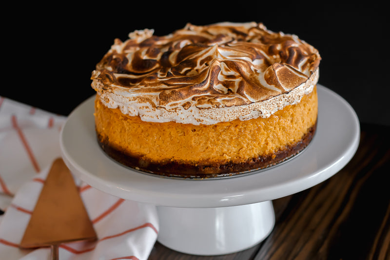 Pumpkin Cheesecake with Meringue Topping