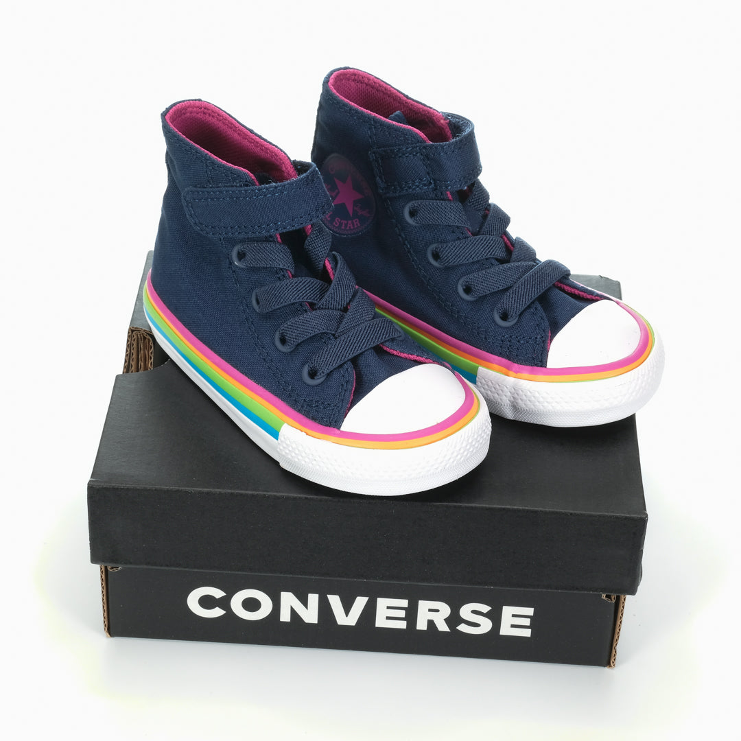 Converse Chuck Taylor All Star 1V Multi Stripe Toddler Navy