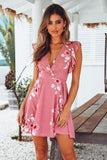 Pink Ruffled Dating Tie Dress