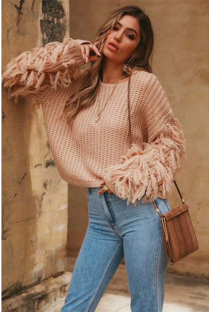 Uitzonderlijk Loose Casual Tassel Oversized Knit Sweater – Shop For Selection &MA65