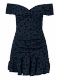 Cotton polka point folds dress