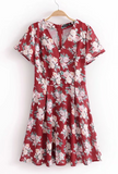 Vintage Pastoral Short Sleeve Dress
