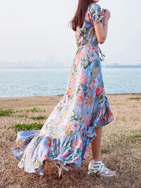 Bohemia Vacation Wind Irregular Dress