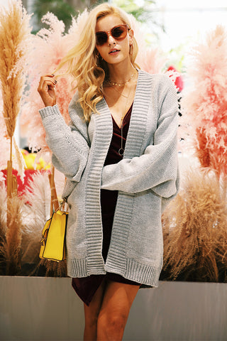 Autumn winter knitting long cardigan Female soft loose sweater  coat Causal warm