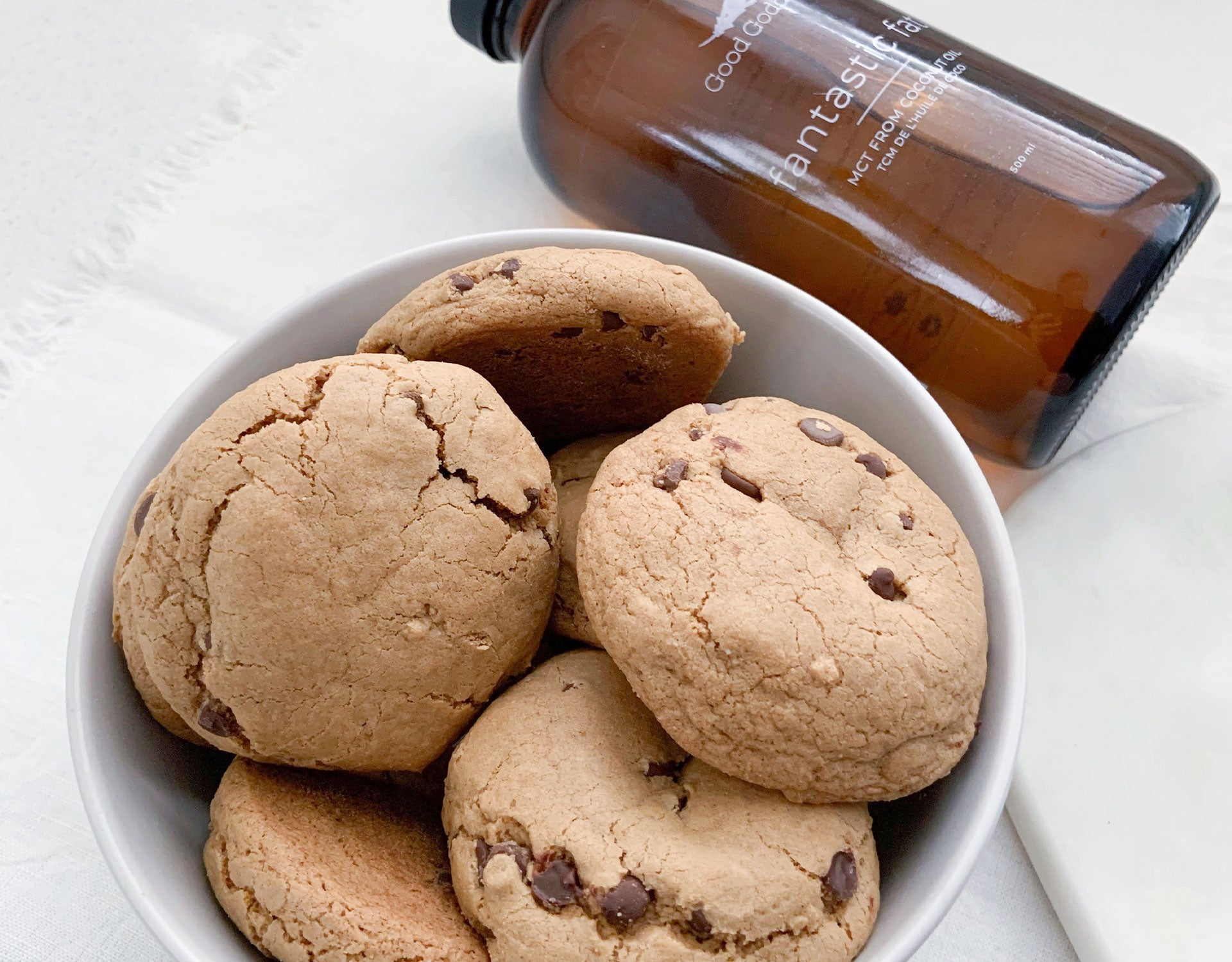 Good Goddess Recipes - MCT Oil Chocolate Chip Cookie