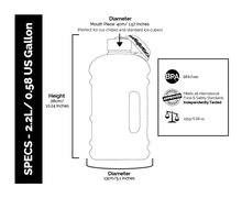 Big Brother Co 2.2L Water Bottle Specifications