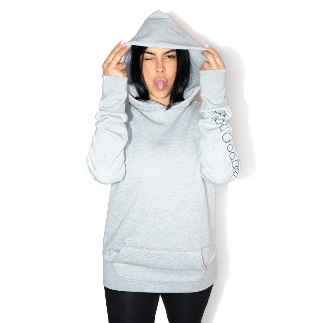 GG Oversized Hoodie in Grey - Good Goddess