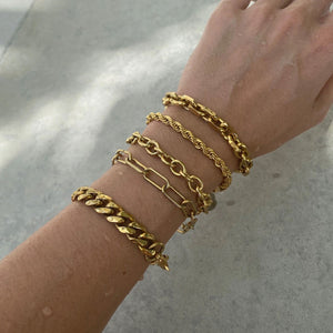 Ellie Vail Shia Cuban Chain Bracelet layered
