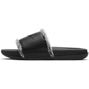 Buy Nike Black Leather Slides with Faux Fur Trim - Good Goddess Toronto