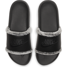 Nike OffCourt Leather Slides with Faux Fur Trim - Good Goddess Shop