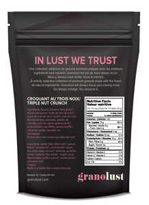 GRANOLUST | Premium Gluten Free Granola Nutritional Information - Good Goddess
