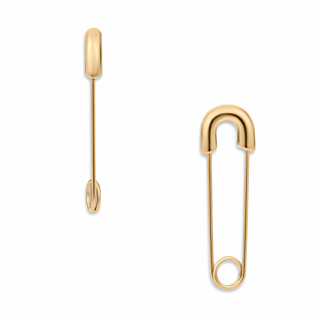 Ellie Vail Abi Safety Pin Earrings