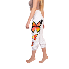 GG butterfly sweatpants in white side view 2