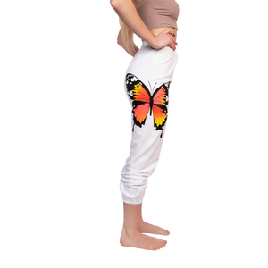 GG butterfly sweatpants in white side view