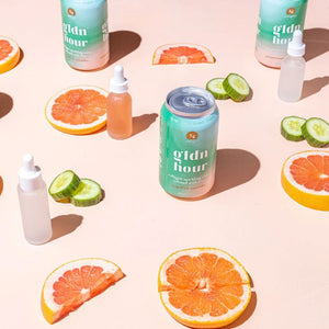 Gldn Hour Collagen Sparkling Water Grapefruit Cucumber image