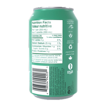 Gldn Hour Collagen Sparkling Water back of can