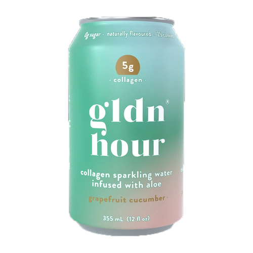Gldn Hour Collagen Sparkling Water Grapefruit Cucumber at Good Goddess