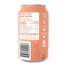 gldn hour sparkling collagen water peach ginger nutrition facts