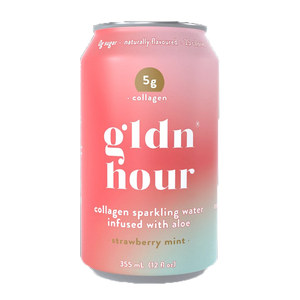 Gldn Hour Collagen Sparkling Water Strawberry Mint at Good Goddess