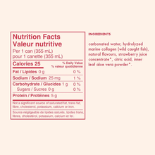 Gldn Hour Collagen Sparkling Water Strawberry Mint ingredients and nutrition facts