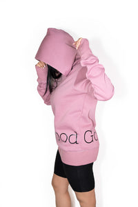 Luxurious Cotton Oversized Hoodie in Grape/Mauve by Good Goddess