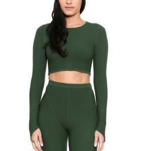 Adam Selman Sport - Ribbed Crop Top