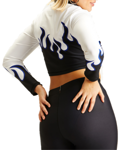 Adam Selman Sport Flame Crop Longsleeve | Activewear - Good Goddess Style