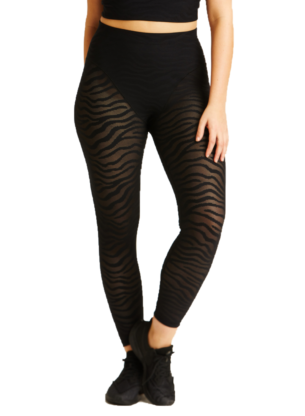 Adam Selman Sport Sheer Tiger Legging | Activewear - Good Goddess