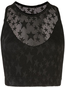 Adam Selman Sport - Sheer Star Crop Top