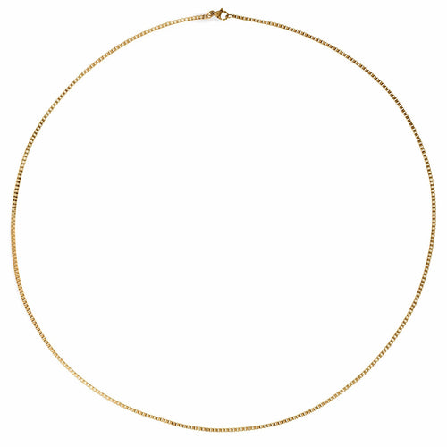 Ellie Vail Kayla thin box chain necklace