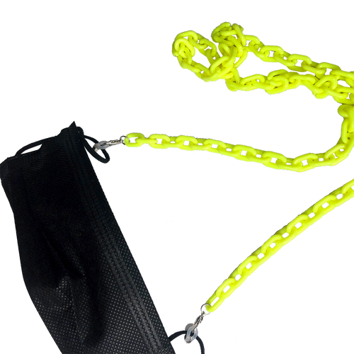 Neon Yellow Mask Chain