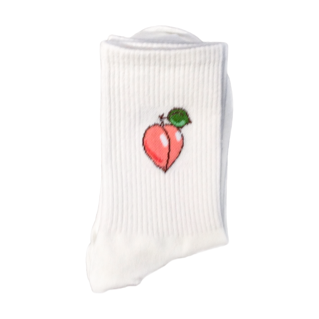 Peach Emoji Socks - Good Goddess