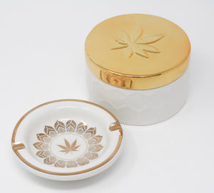 Fashionably High Stash Box + Ashtray Set