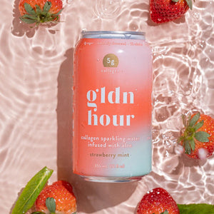 Gldn Hour Collagen Sparkling Water Strawberry Mint image