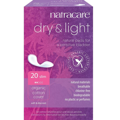 Natracare Dry & Light Incontinence Pads 20pcs, Light Incontinence Pads, Natracare - kindgrocer