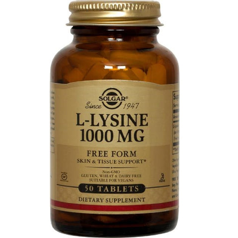 Solgar L-Lysine 1000mg 100 Tablets, Supplement, Solgar - kindgrocer