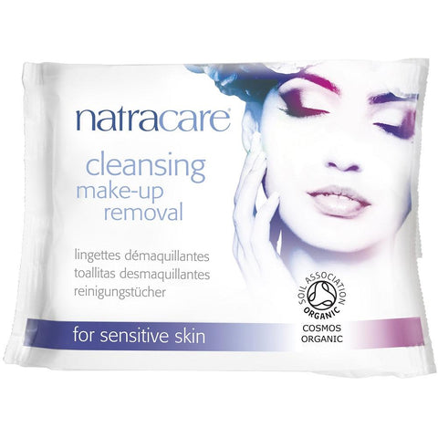 Natracare Cleansing Make-Up Removal Wipes for Sensitive Skin 20pcs, Facial Wipes, Natracare - kindgrocer
