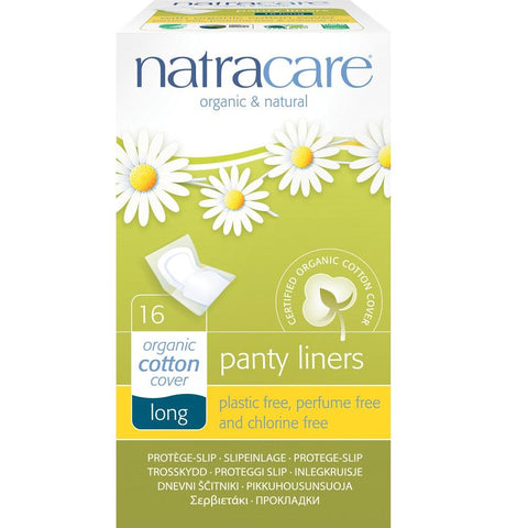 Natracare Panty Liners with Organic Cotton Cover - Long 16pcs, Panty Liners, Natracare - kindgrocer