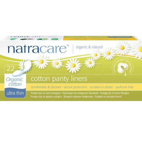 Natracare Panty Liners with Organic Cotton Cover - Ultra Thin 22pcs, Panty Liners, Natracare - kindgrocer