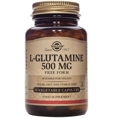 Solgar L-Glutamine 500mg 50 Vegetable Capsules, Supplement, Solgar - kindgrocer