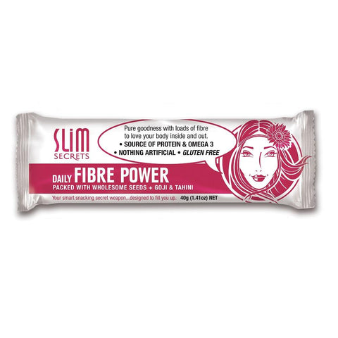Slim Secrets Daily Fibre Power Bar Packed with Wholesome Seeds + Goji & Tahini 40g