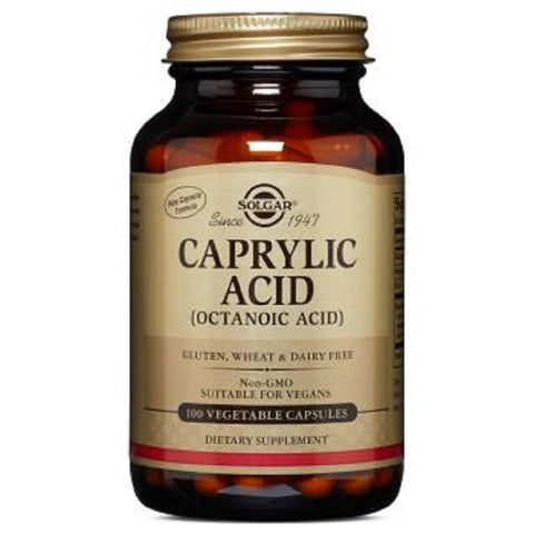 Solgar Caprylic Acid 100 Tablets, Supplement, Solgar - kindgrocer