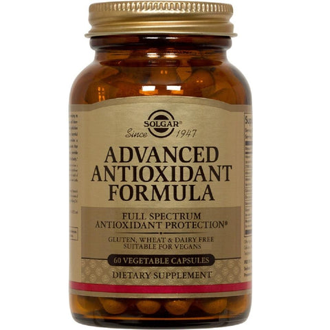 Solgar Advanced Antioxidant Formula 60 Vegetable Capsules, Supplement, Solgar - kindgrocer