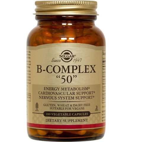 "Solgar B-Complex ""50"" 100 Vegetable Capsules, Supplement, Solgar - kindgrocer"