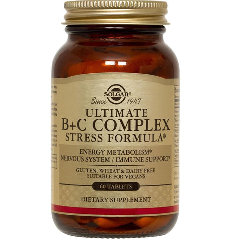 Solgar Ultimate B+C Complex Support for Busy Lifestyles 60 Tablets, Supplement, Solgar - kindgrocer